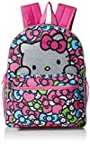 Hello Kitty Girls' Glitter 16 inch Backpack, Pink