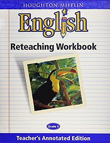 English Reteaching Workbook, Grade 4, Teacher's Annotated Edition