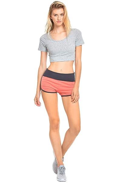 Amazon.com: teejoy algodón Spandex de la mujer Fold Over ...