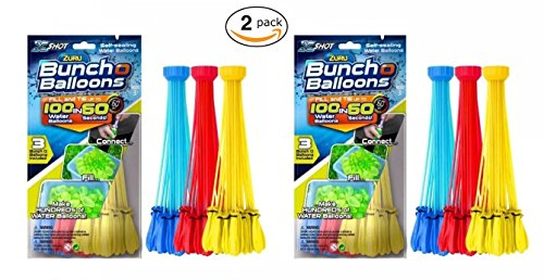 Zuru Instant Water Balloons - Color Vary (6 Bunches - 200 Total Water Balloons) by Bunch O Balloons