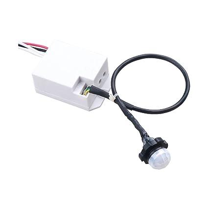 Mini detector de movimiento 360 ° para su instalación Sensor PIR empotrado para LED Detector 800
