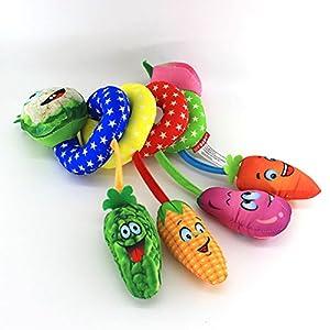 Amazemarket 26cm Baby Boys Girls Musicical Vegetables Rattle Plush Toys Spiral Activity Bed Crib Around Pram Stroller…