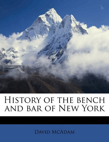 History of the bench and bar of New York PDF