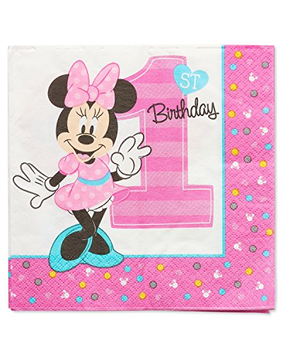 American Greetings Minnie Mouse 1st Birthday Lunch Napkins (16 (Minnie Mouse Napkins)