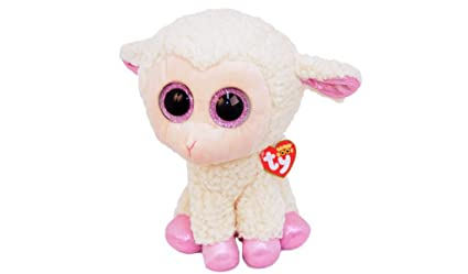 New TY Beanie Boos Big Eyes Daria Sheep Lamb Plush Doll Stuffed Animal Toy Small White