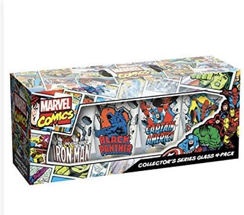 ICUP, Inc. Marvel Comics Collectors Series Vaso de pinta, 4 unidades, 16 onzas: Amazon.es: Hogar