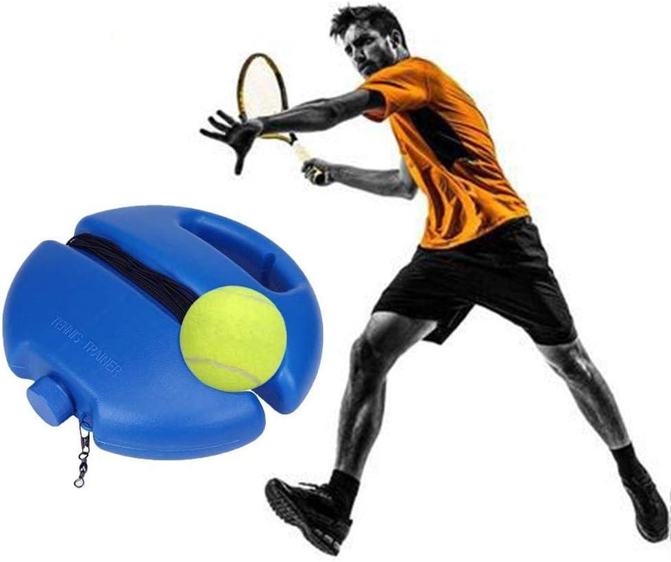 Blentude Nuevo Entrenador de Tenis Entrenador Base con Cuerda Automático - Rebote Entrenador de Tenis con Banda de Goma antienrollamiento