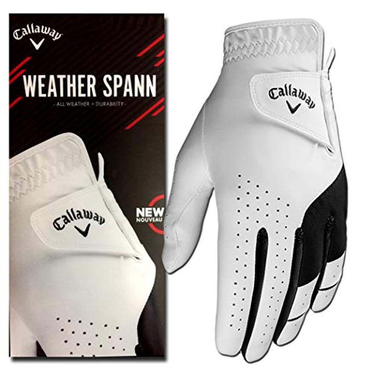 [해외] WEATHER SPANN 2019 CALLAWAY 전천후형 골프 글러브 강화 팜 패치 부착 맨즈 CADET XL 1글러브 왼손용