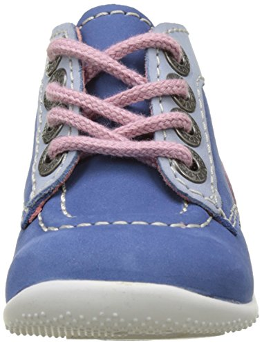Kickers Bonbon, Calzado de Primeros Pasos para Bebés Bleu (Bleu Bleu Clair Rose)