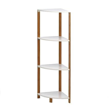 Amazon.com: Corner Bath Shelf, Tall Corner Shelf Unit Bathroom ...