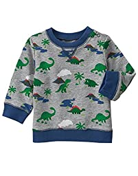 Gymboree Baby Girls\' Toddler Boys\' Dino Print Terry Crew, Multi, 18-24 Months