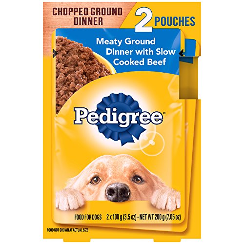 PEDIGREE Chopped Meaty Ground Dinner With Slow Cooked Beef Wet Dog Food 3.5 Ounces (16 Count)