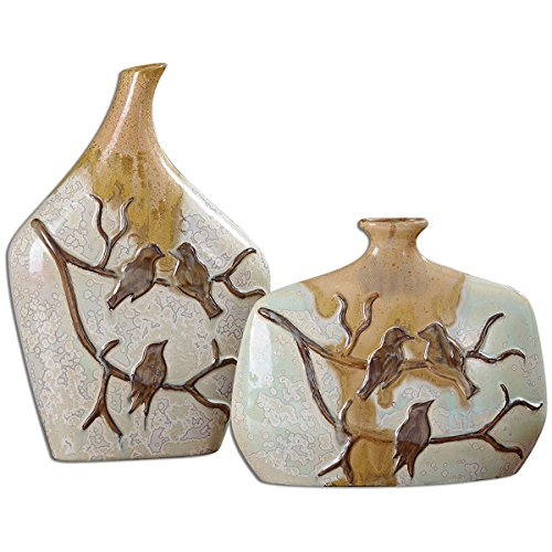 Uttermost 19843 Pajaro Ceramic Vases (Set of 2) from Uttermost
