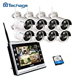 Techage WiFi Home Security Camera CCTV System 960P with 11″ LCD Monitor 8 Channel 1.3MP Screen WiFi CCTV Surveillance Kit with 2tb Hard Drive Review