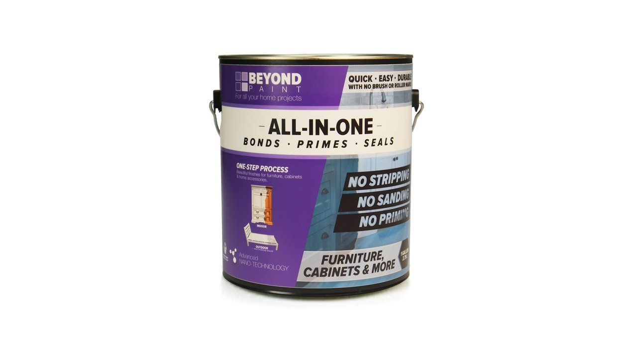 Beyond Paint Furniture, Cabinets and More All-in-one Refinishing Paint Gallon, No Stripping, Sanding or Priming Needed, Pewter