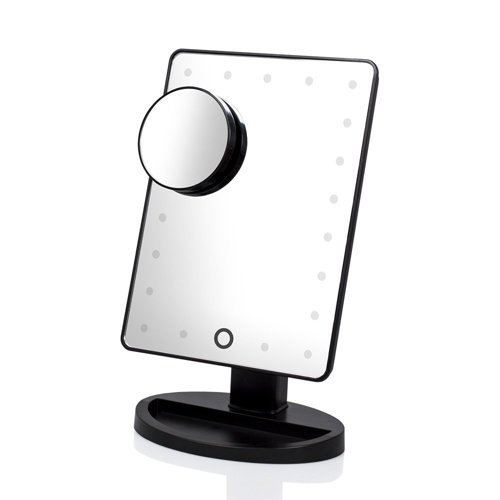 DreamGenius Makeup Mirror 21 LED Lighted Vanity Mirror with Detachable 10X Magnifying Spot Mirror