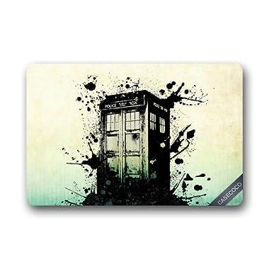 Custom Doctor Who Tardis Doormat Door Welcome Mat Cover Rug Outdoor Indoor Floor Mats Non-Slip Machine Washable Decor Bathroom Mats