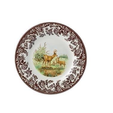Spode Woodland American Wildlife  Mule Deer Salad Plate