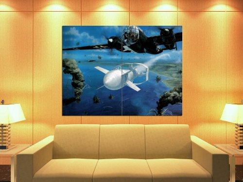 Dornier Do 217 German Bomber Aircraft WW2 Painting 47x35 Huge Giant Print ()