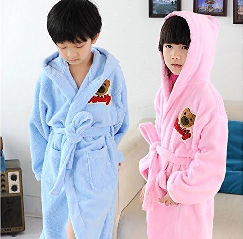 Albornoz de rizo con capucha niños creativos de algodón grueso absorbente suave albornoz bata de baño 80 cm bathrobes albornoces para niños camisón, color al azar bathrobes camisón para pijamas ropas pijama: