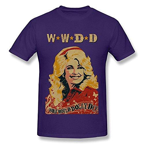 [Women's Dolly Parton Singer Heard O-neck T-shirts Size XXL Purple] (Purple Dolly Wig)