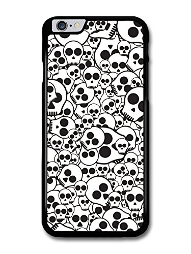 Skull Pattern in Black and White Minimalist case for iPhone 6 Plus 6S Plus