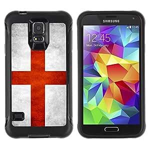 LASTONE PHONE CASE / Suave Silicona Caso Carcasa de Caucho Funda para Samsung Galaxy S5 SM-G900 / National Flag Nation Country England