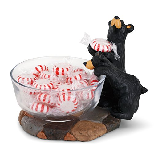 BLACK FOREST DECOR Curious Bear Candy Dish ()