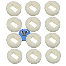 HQRP Foam Pre-Filter (Pack of 12) for Drinkwell 360 Plastic Pet Fountains Water Bowl D360-RE, RF360PRE Replacement + HQRP Coaster