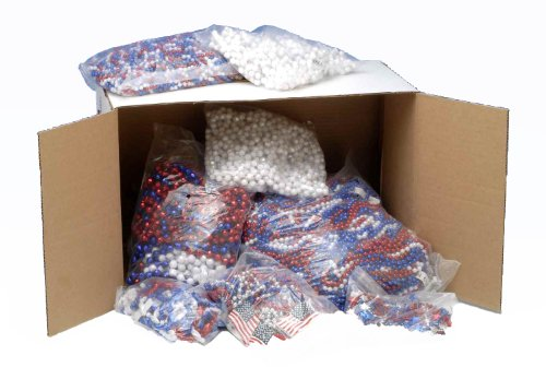 July 4th Independence Day Party Box Patriotic Election Bead Necklaces ()