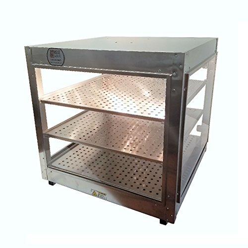 (Commercial Food Pizza Pastry Warmer Countertop 24x24x24 Display)