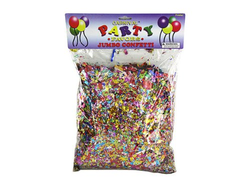 Bulk Buys PA094-96 Jumbo Metallic Confetti Pack in a Poly Bag - Pack of 96