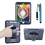 Cellular360 Shockproof Case for Apple iPad Mini 1 iPad Mini 2 iPad Mini 3 - Handy Case with 360 Degree Rotatable Kickstand and Handle (Black)