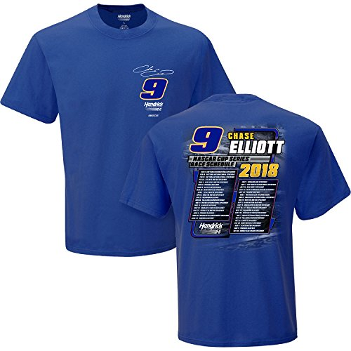 NASCAR 2018 Monster Energy Cup Schedule Racing T-Shirt (Chase Elliot, Large)