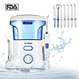 Water Dental Flosser, 600ml IPX7 Waterproof Oral Irrigator with 7 Interchangeable Jet Tips 10 Modes for Oral & Nose Care, Braces & Bridges Care, Leak-Proof Portable for Home, Travel, Adults,Kids For Sale