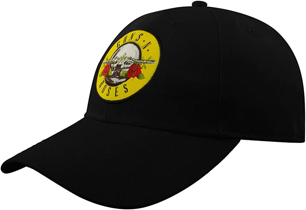 Guns N Roses Circle Logo Baseball Cap Official Mens Black Rock Music Merch Hat