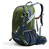 LYGA Waterproof 30L camping hiking backpack backpack sports bag outdoor travel backpack Trekk mountaineering bag,green,A