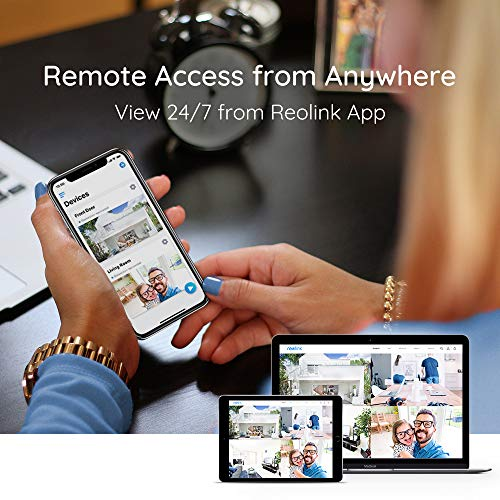 Reolink 4K PoE Security Camera System, 4pcs Wired 8MP Outdoor PoE IP Cameras, H.265 8MP 8-Channel NVR with 2TB HDD Video Surveillance System for 24/7 Recording, RLK8-800B4