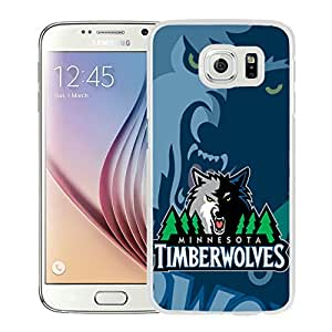 New DIY Designed Skin Case For Samsung Galaxy S6 With Minnesota Timberwolves 1 White Phone Case
