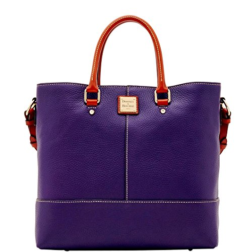 Dooney & Bourke Pebble Grain Chelsea Shopper Tote Plum