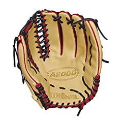 The new Wilson A2000 OT6 SS features a one-piece, six finger palm and web and is now made with black SuperSkin, and blonde and Red Pro stock leather. The OT6 is the perfect for outfielders looking for a longer glove with more feel and less re...