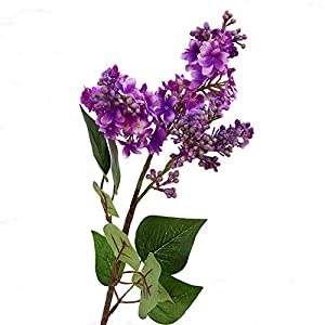 BLagenertJ 1Pc Artificial Faux Silk Plant Simulation Lilac Flower Garden Wedding Bouquet Party Home Cafe Decor - Dark Purple 87