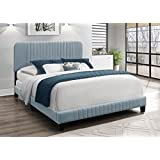 Home Design Springfield Upholstered Bed (Full, Light Blue)