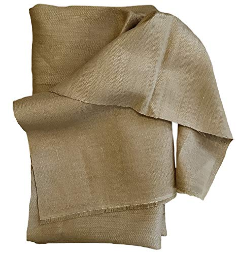 Organic Cotton Plus 100% Hemp Herringbone Fabric - Sand Color