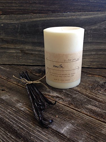 Rich Vanilla Soy Pillar Candle Premium Soy Pillar Candle Vanilla Candle Off White Soy Pillar Candle