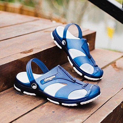 CWJDTXD plastica cielo Pantofole blu casa di leggeri donne paio 38 e antiscivolo estive e estate coperta pantofole bagno Pantofole croce uomini sandali 6Rqpx6rn