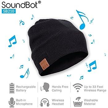 22fc9ac9 SoundBot¨ SB210 HD Stereo Bluetooth 4.1 Wireless Smart Beanie Headset  Musical Knit Headphone Speaker Hat