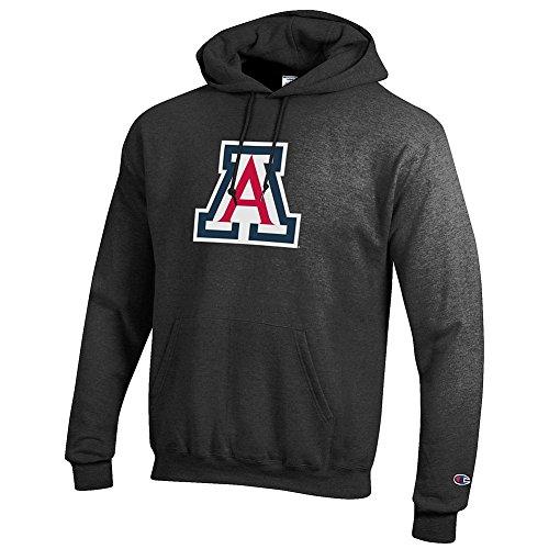 Elite Fan Shop Arizona Wildcats Hooded Sweatshirt Icon Charcoal - XL -
