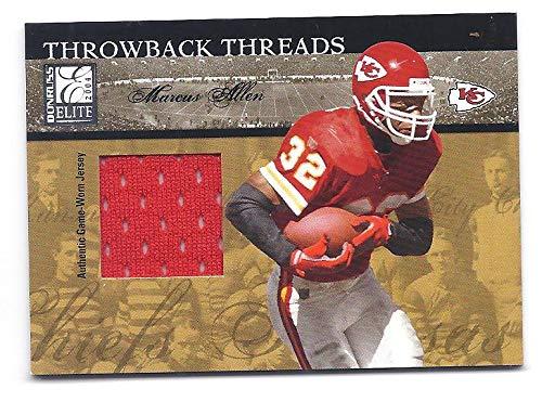 MARCUS ALLENN 2004 Donruss Elite Throwback Threads #TT19 GAME-WORN JERSEY CARD #008 of only 150 Made! Kansas City Chiefs Football