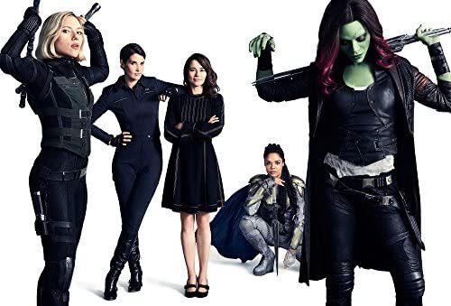 Avengers Infinity War Black Widow Gamora Valkyrie Wall Art